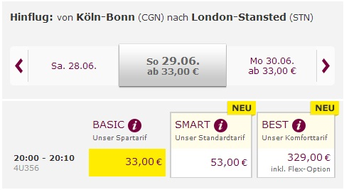 Germanwings: Flights within Europe from 33€!