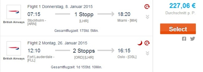 Great Deal Miami from Stockholm and back to Oslo for only €227 - round trip, taxes incl