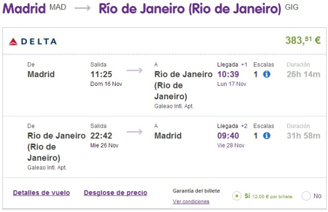 Flights to Brazil and New York from Spain for only €365 - round trip