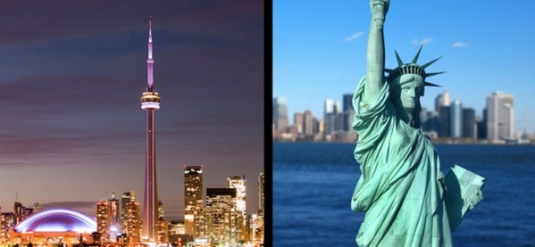 Flights to Toronto and New York from Central Europe for £245
