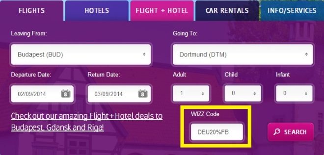 Flights to Germany for only €10 per way