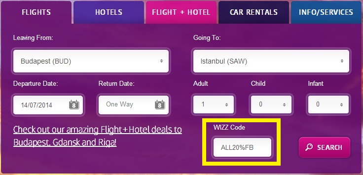 Only Today 20 Off From Every Wizzair Flight Triphunters
