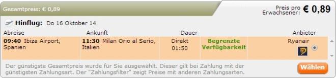 Budapest - Ibiza €8 34 - return