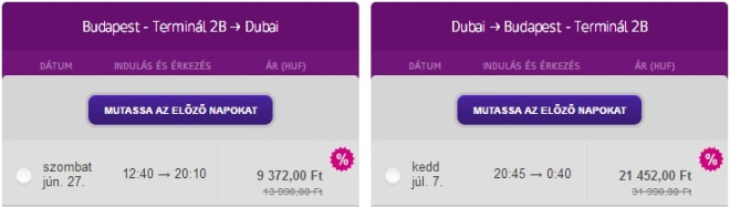 Dubai from Budapest for only €97 - return