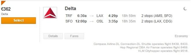 Los Angeles+San Francisco €362