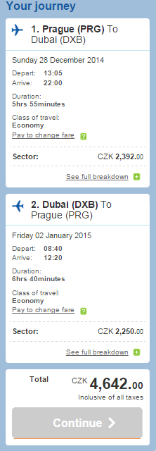 New Year's Eve in Dubai €167 - return